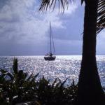 Ankrad segelbåt i Karibien